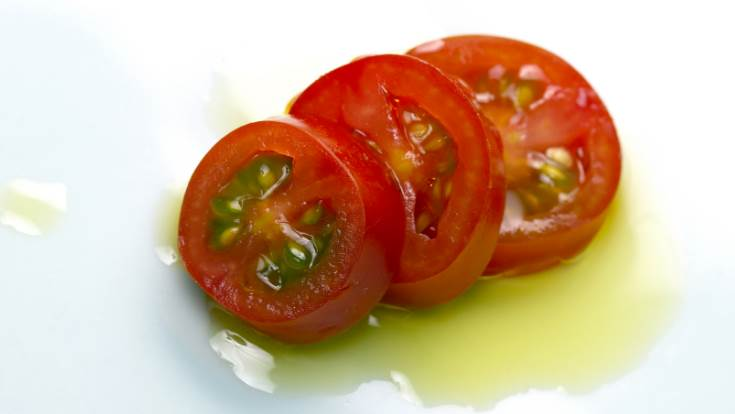 tomato and extra virgin olive oil
