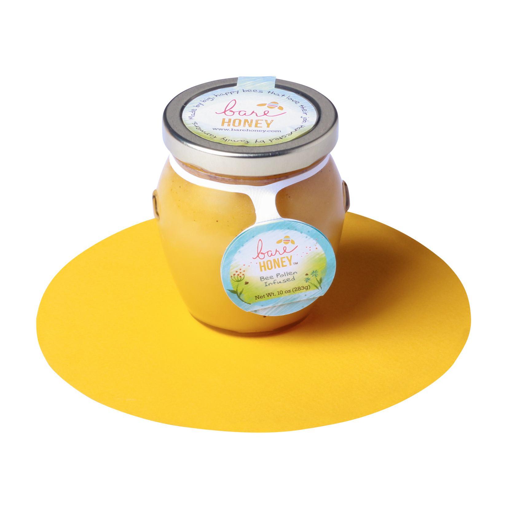Bare Honey-Bee Pollen Infused Honey