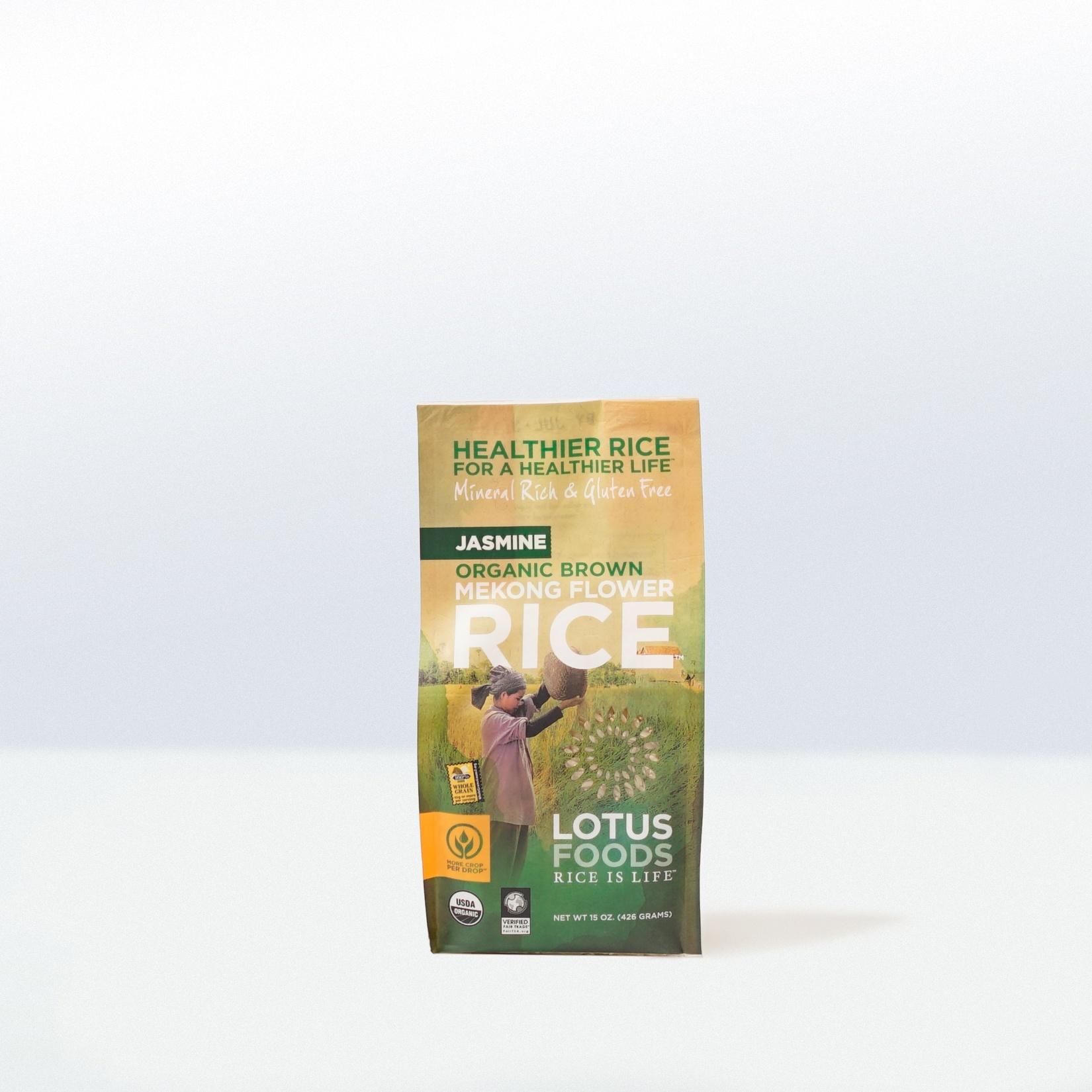 Lotus Foods-Organic Brown Mekong FlowerJasmine Rice
