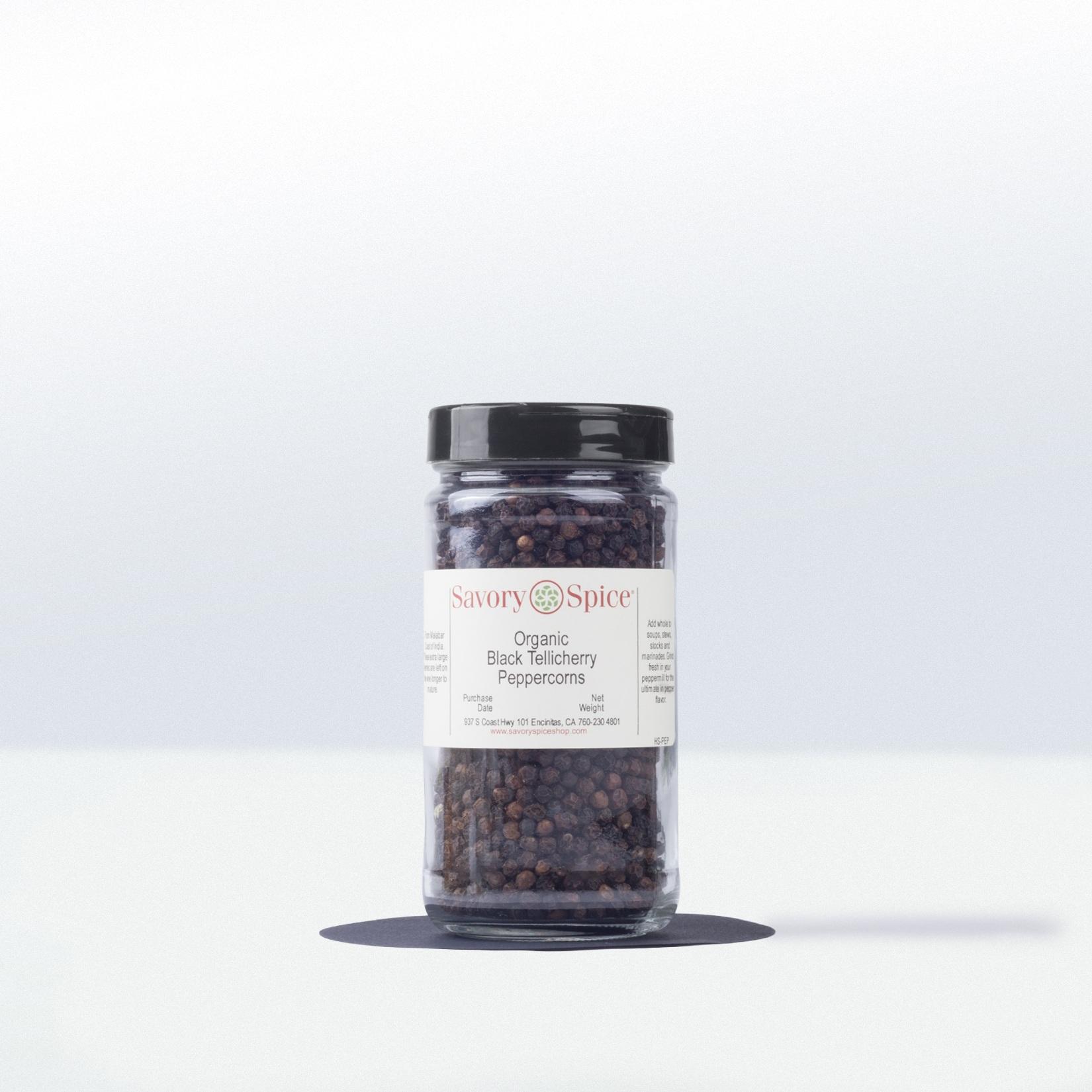 Savory Spice-Organic Black TellicherryPeppercorns
