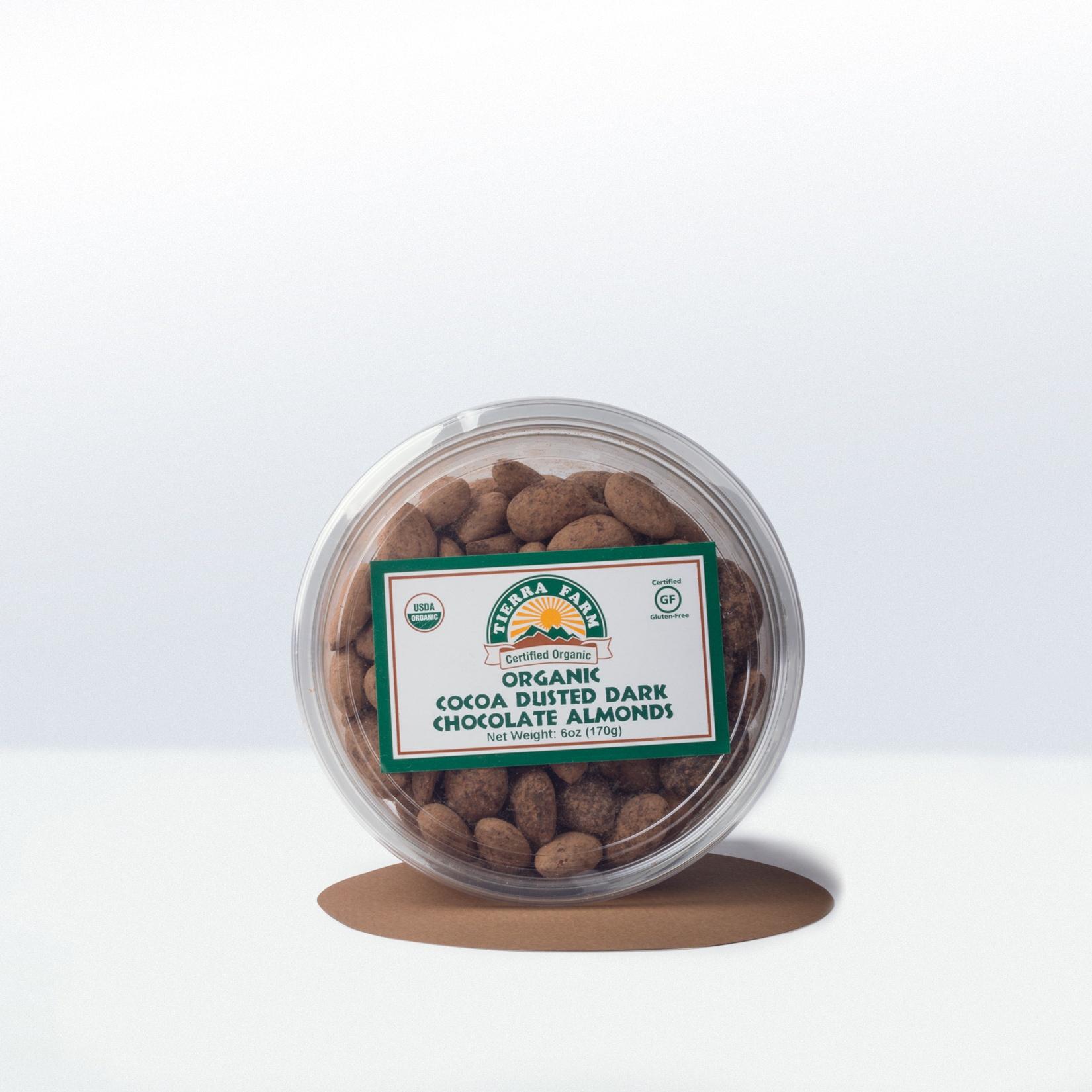 Tierra Farm-Organic Cocoa DustedDark Chocolate Almonds