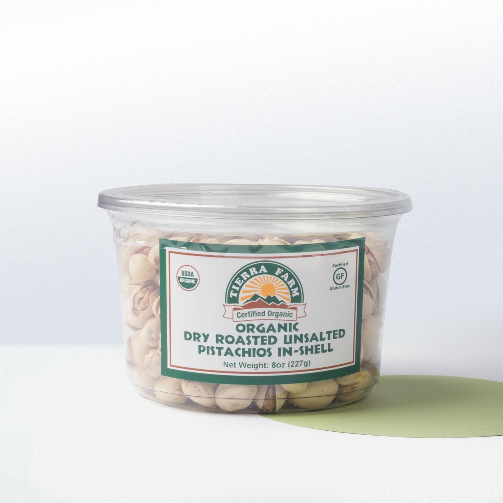 Tierra Farm-Organic Dry Roasted UnsaltedPistachios In Shell