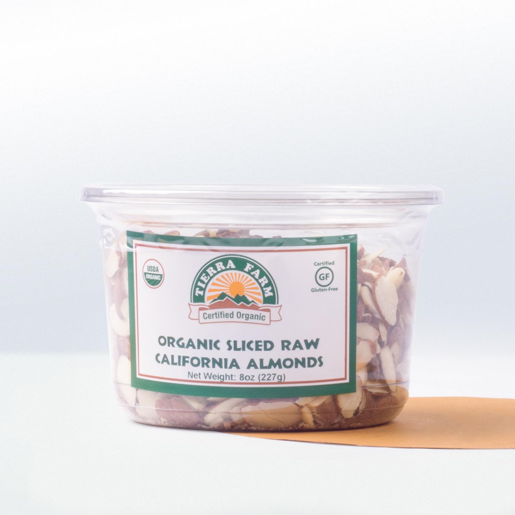 Tierra Farm-Organic Sliced RawCalifornia Almonds