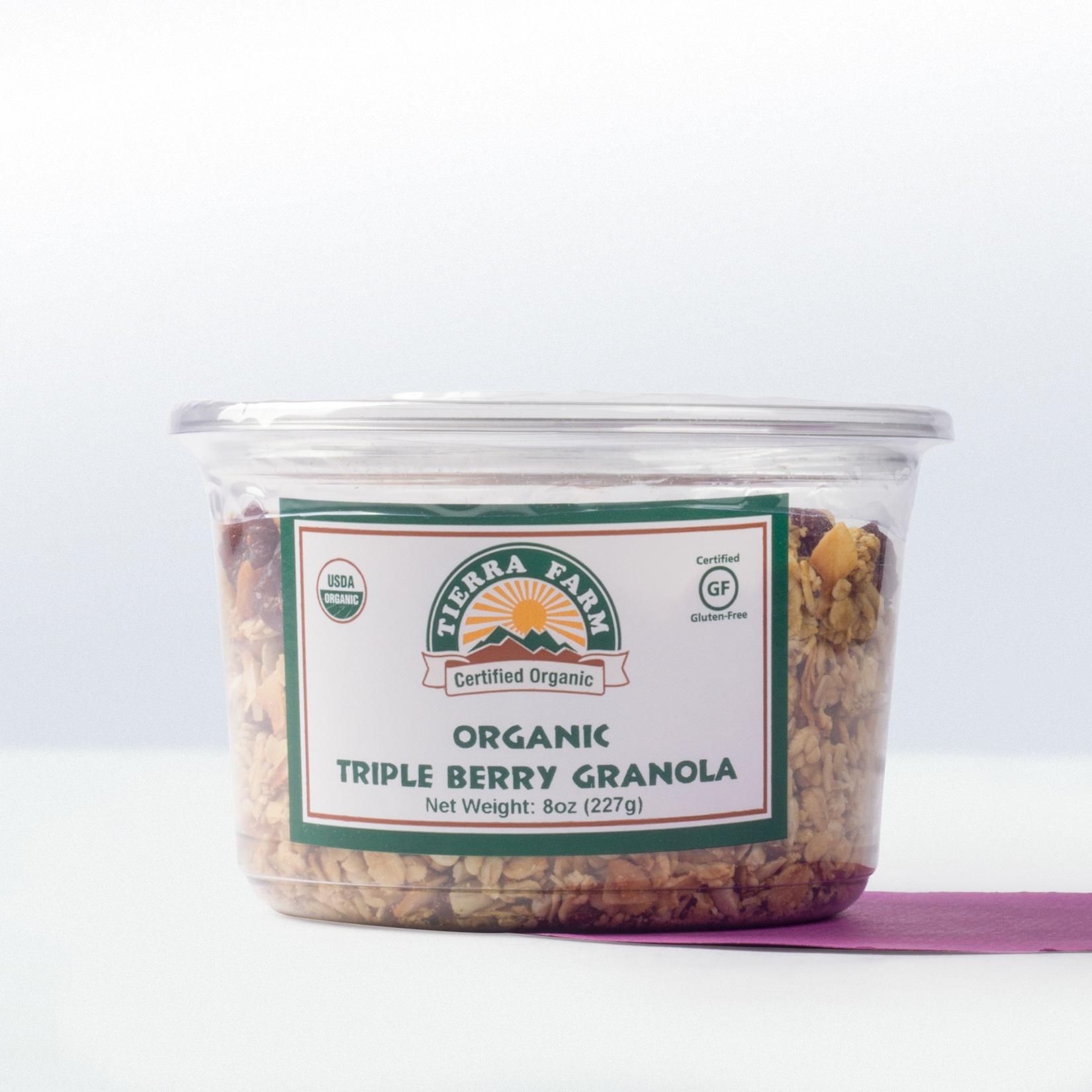 Tierra Farm-Organic Triple Berry Granola