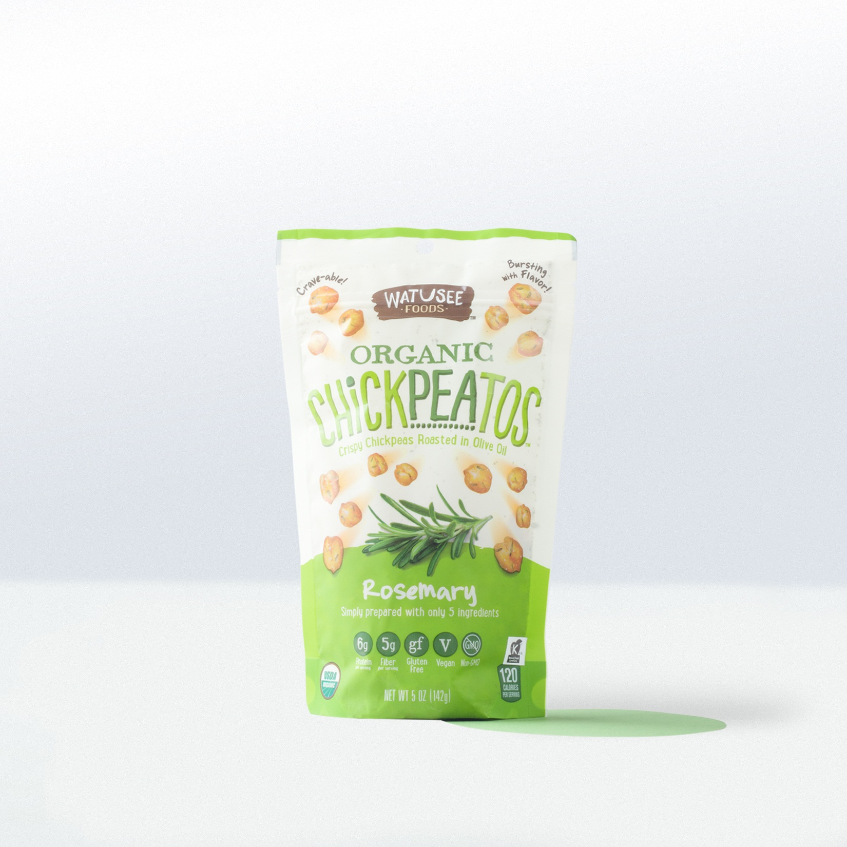 Watusee Foods-Organic Chickpeatos Rosemary